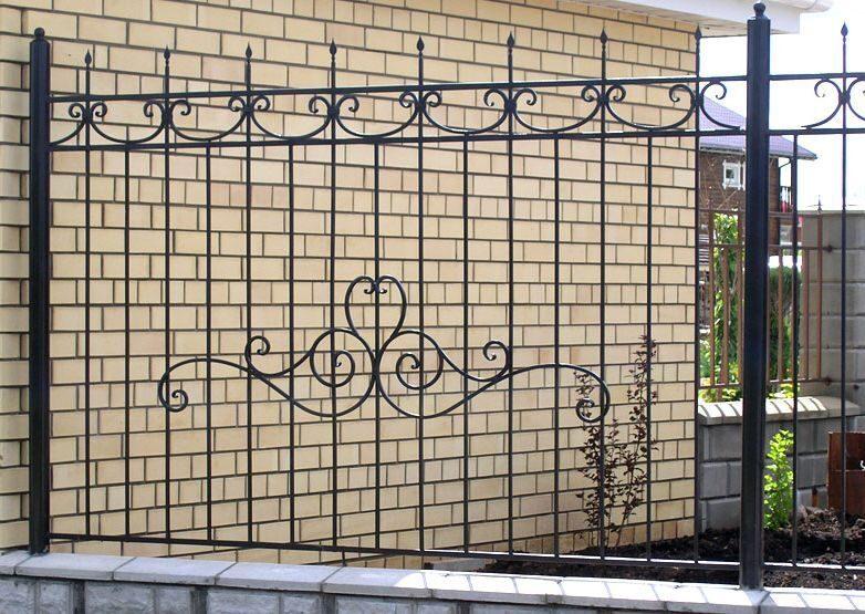 Забор кованый своими руками фото